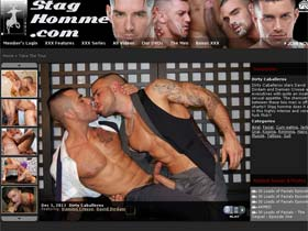 Welcome to Stag Homme - spraying cum in his mouth!