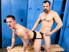 Coach's Jock Strap mature gay fuck
