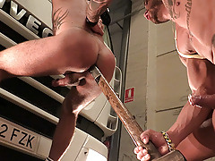 Hitchhiker Martin jumps into a truck hoping to be taken to Madrid, but arrogant trucker has other plans for him. He'll have to suck a lot of cock and become a good sex toy if he wants to be home tonight. mature gay fuck