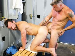 A Locker Room Affair mature gay fuck