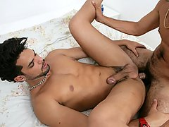 Lucas Fox and Guilherme Bang mature gay fuck