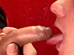 Hot gay dudes loves suckin some cocks trought the glory hole