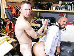 The Janitor's Closet mature gay fuck