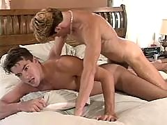 Handsome latino rides friend in gym mature gay fuck