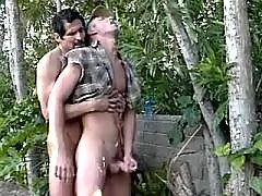 Steamy blackeyed hunks fuck and cum mature gay fuck
