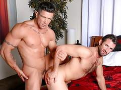 Trenton twists CJ over the bed & opens his begging wazoo up