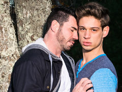 Young Michael Delray is a jealous lover who doesn't like that wild Billy Santoro has been talking to an ex behind his back. Watch Michael show Billy whose boss as this chab bangs the grandpa power bottom into a state of lustful submission. mature gay fuck