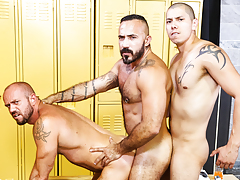 Gym Colleagues mature gay fuck