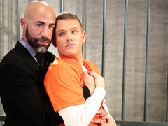 Teen heart throb twink Brandon Wilde gives big, dark, smoldering defense attorney too much attitude. Damon Andros shows Brandon who's boss as this boy kisses the blond boy hard and then has him blow his massive cock. Brandon is eager and able as this boy