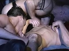 Horny college guys throating in 69