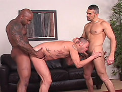 Gay Bareback Tony Serrano, Adam Mansfield & Tony London