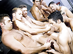 The initiation turns to a sexual free-for-all for everyone! mature gay fuck