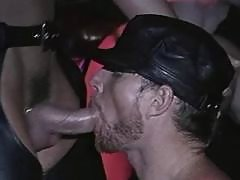 Fetish gays in leather boots throat