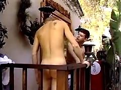 Three horny gay blokes suck n lick mature gay fuck