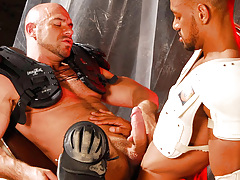 The rebelliousness is given as the twofold Gladiator cops Carioca and Axel battle over who can climb who. Carioca WINS and Axel must endure the fat horse cock of Carioca in the throat and then in his tight ass. It bucks him without mercy, and faster and f mature gay fuck