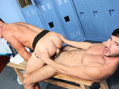 Locker Room Cock mature gay fuck